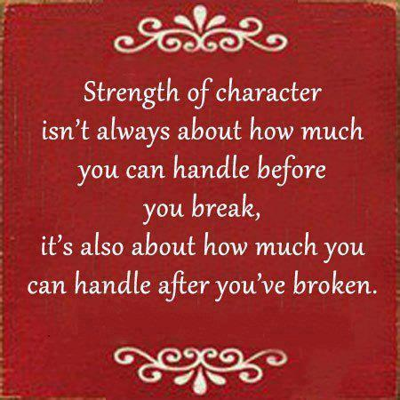 Strength of character