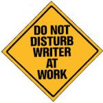 do not disturb writer at work