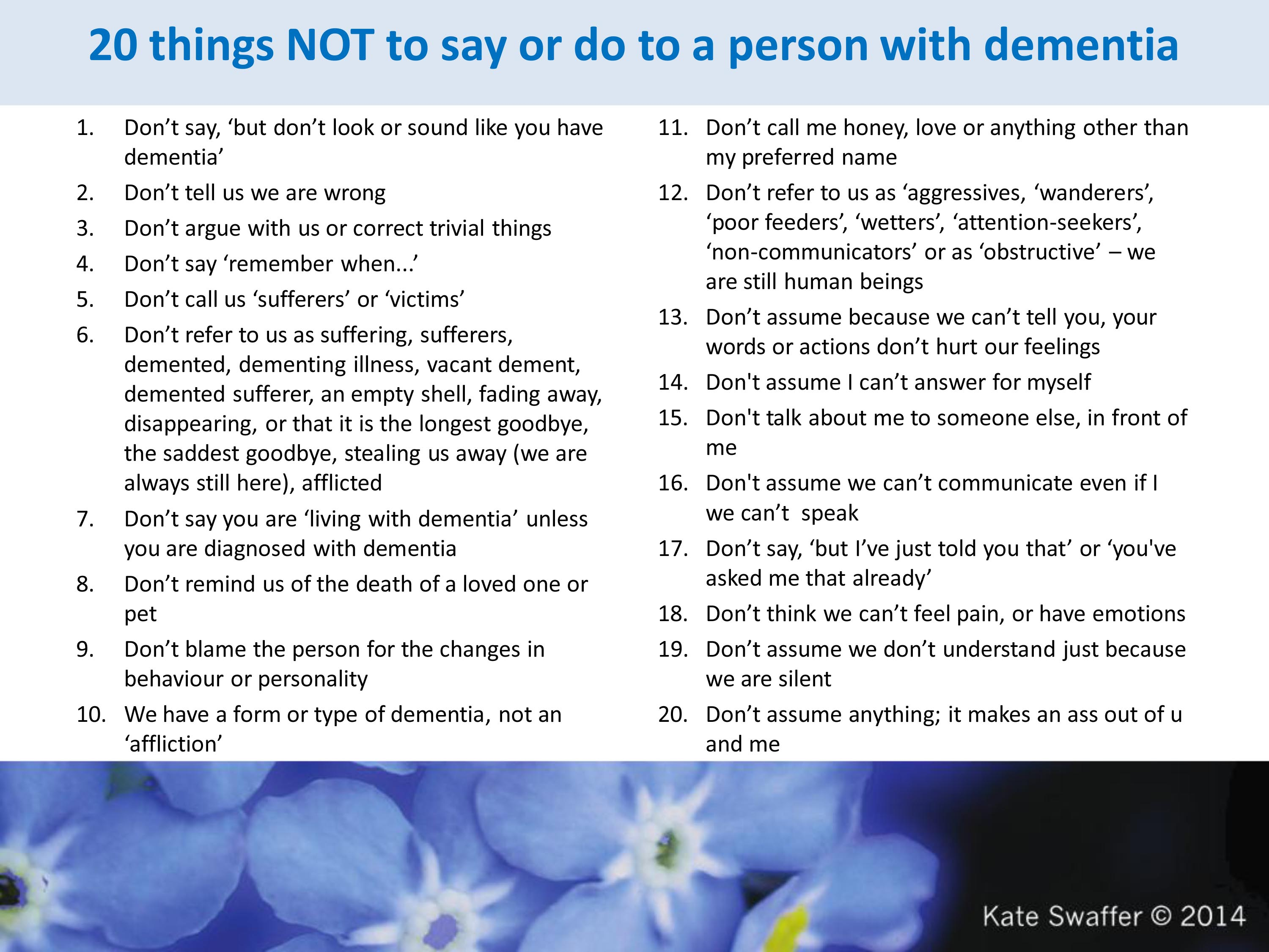 pictures 10 Things Never to Say to Caregivers of Elderly Parents