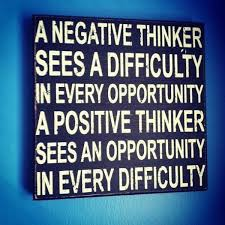 negative vs psitive thinker