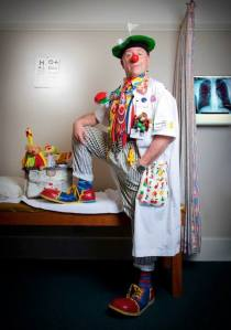 Dr Spitzer as Dr Fruitloop; source Clown Doctors Facebook page