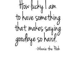 winnie the Pooh on saying goodbye