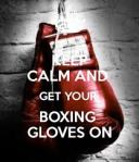 boxing gloves on
