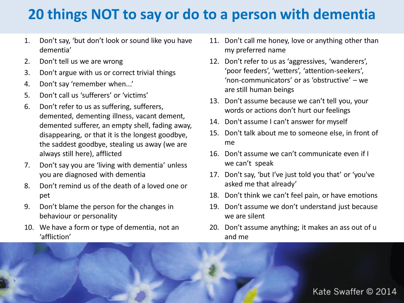 More Positively Supporting A Person With Dementia